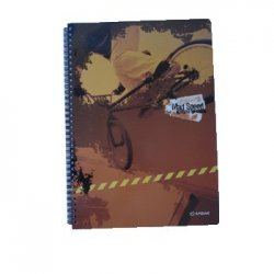 Caderno Espiral Ambar Mad Speed A5 Pautado 120 Folhas