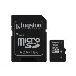 Kingston - Cartão de memória flash (adaptador microSDHC a SD Incluído) - 8 GB - Class 4 - microSDHC