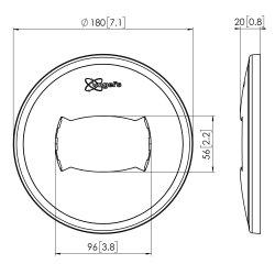 Vogel's Professional PFA 9108 - Componente de montagem (tampa da placa do tecto) para painel plasma / LCD - branco (pacote de 2