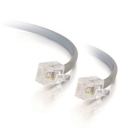C2G RJ11 6P4C Straight Modular Cable - Cabo de telefone - RJ-11 (M) para RJ-11 (M) - 5 m - cinza