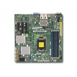 SUPERMICRO X11SSH-CTF - Placa-mãe - micro ATX - LGA1151 Socket - C236 - USB 3.0 - 2 x 10 Gigabit LAN - gráfico integrado