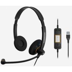 EPOS I SENNHEISER IMPACT SC 60 USB ML - Auscultadores - no ouvido - com cabo - USB - preto com apontamentos cor de laranja