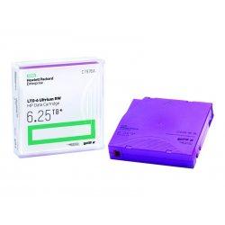 HPE RW Data Cartridge - 20 x LTO Ultrium 6 - 2.5 TB / 6.25 TB - etiquetas de escrita - púrpura - para StorageWorks SAS Rack-Mou