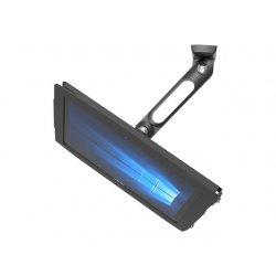 Compulocks Swing Arm Surface Pro7 / Galaxy TabPro S Wall Mount Kiosk Black - Kit de montagem (suporte oscilante, confinamento a