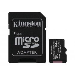 Kingston Canvas Select Plus - Cartão de memória flash (adaptador microSDXC para SD Incluído) - 64 GB - A1 / Video Class V10 / U