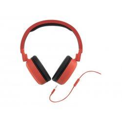 Energy Style 1 Talk - Auscultadores supra-aurais com microfonoe - tamanho completo - com cabo - macaco de 3,5 mm - vermelho pim