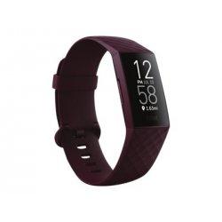 Fitbit Charge 4 - Pau-rosa - rastreador de actividade Com banda - elastómero - pau-rosa - tamanho do pulso: até 247 mm - monocr