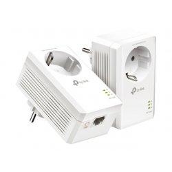 TP-Link AV1000 - Gigabit Passthrough Powerline Starter Kit - quadro de ligação - GigE, HomePlug AV (HPAV), HomePlug AV (HPAV) 2
