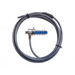 Targus Defcon - Trancamento do cabo de segurança - cinza - 2 m