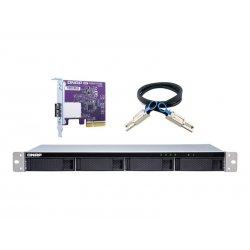 QNAP TL-R400S - Matriz de disco rígido - 4 baias (SATA-600) - SATA 6Gb/s (externo) - montável em bastidor - 1U