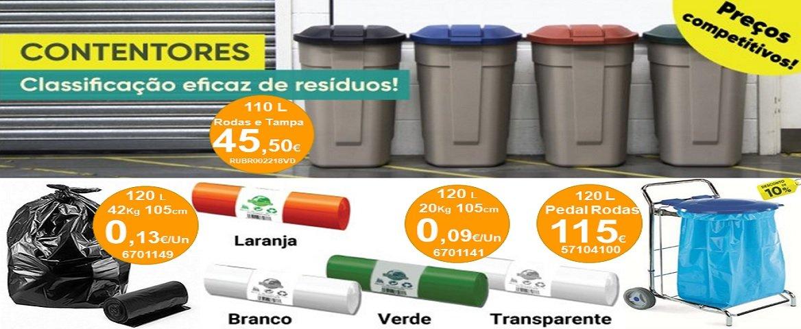 Contentores e sacos de lixo