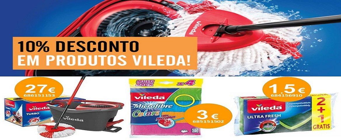 10% de desconto em produtos Vileda
