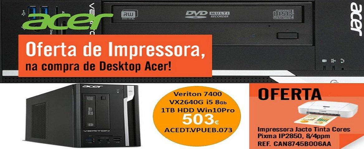 Oferta de impressora na compra de PC Acer
