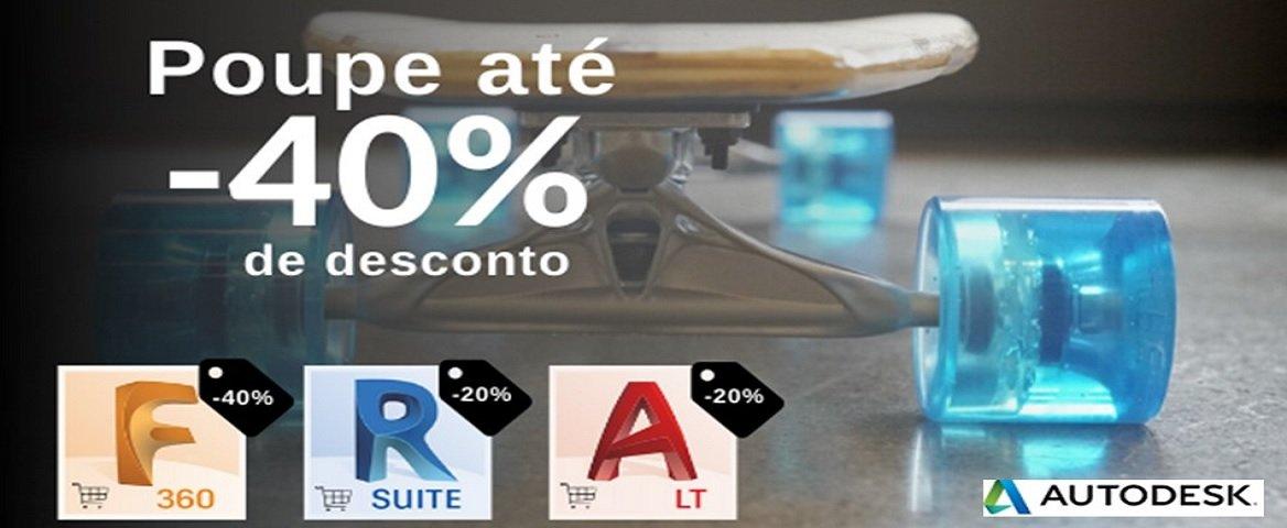 Autodesk desconto de 40%