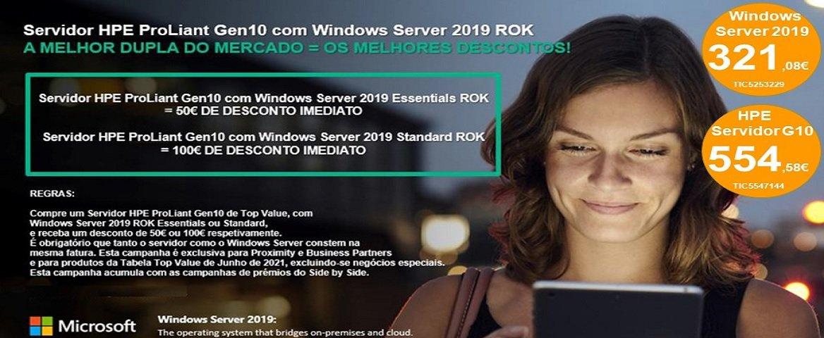 Servidor HPE e Windows Server