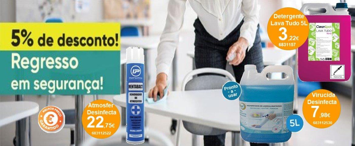 Regresso em segurança - desinfectante