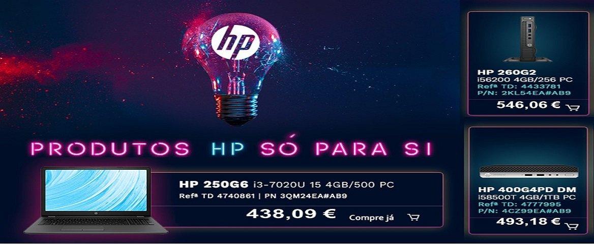 Produtos HP só para si
