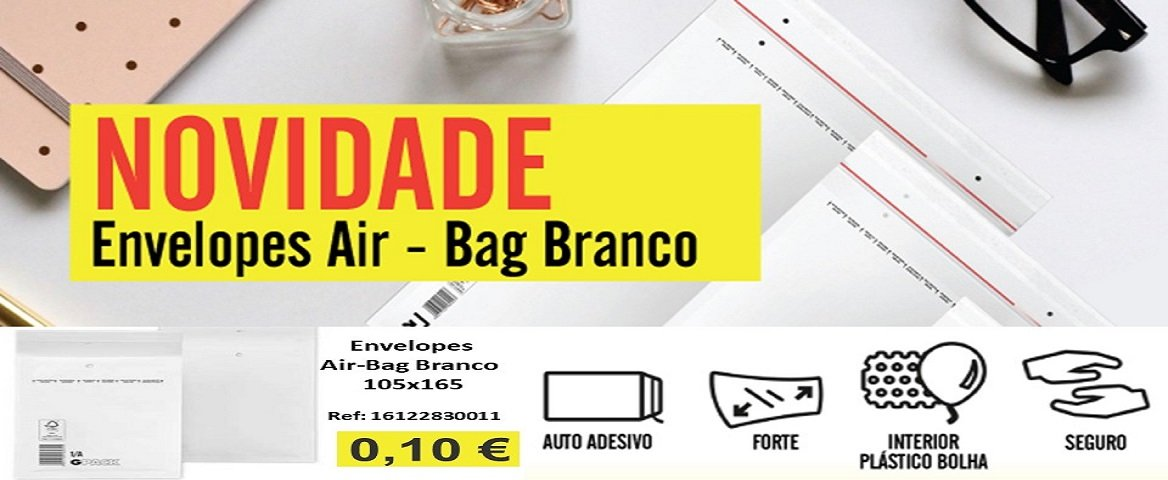 Envelopes Air-Bag branco