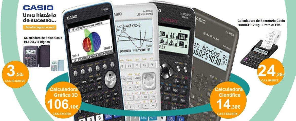 Calculadoras CASIO aos melhores preços com entrega gratuita no dia seguinte